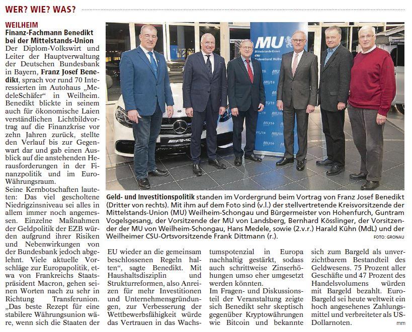 Benedikt Weilheimer Tagblatt 01.03.18