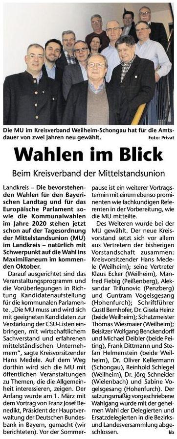 Neuwahlen Kreisbote Lechkurier 04.04.18